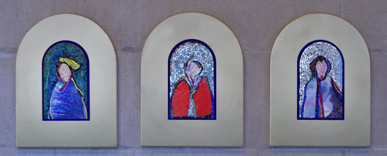 Mosaic Triptych copyright by Artist Verdiano Marzi and Shown at Fourth Presbyterian Church