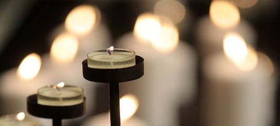 Candles at Fourth Presbyterian Church